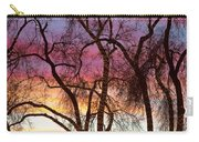 Colorful Silhouetted Trees 37 Carry-all Pouch