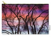Colorful Silhouetted Trees 9 Carry-all Pouch