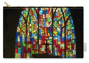 Colorful Stained Glass Chapel Window Carry-all Pouch