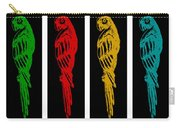 Colorful Tropical Parrot Abstract Parrot Ink Sketch Digital And Original Art By Madart Carry-all Pouch