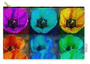 Colorful Tulip Collage Carry-all Pouch by James BO  Insogna