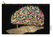 Colorful Welded Steel Encaustic On Wood Sculpture Carry-all Pouch