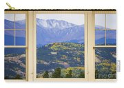 Colorful Rocky Mountain Autumn Picture Window View Carry-all Pouch