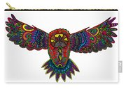 Coloured Owl Carry-all Pouch by Karen Elzinga