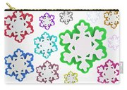 Coloured Snowflakes Isolated Carry-all Pouch