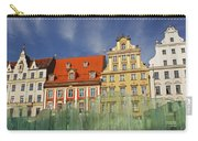 Colourful Buildings And Fountain Carry-all Pouch