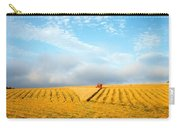Combine Harvesting A Wheat Field Carry-all Pouch