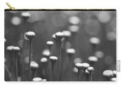 Coming Up Daisies Abstract In Black And White Carry-all Pouch