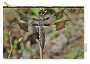 Common Whitetail Dragonfly - Plathemis Lydia - Female Carry-all Pouch