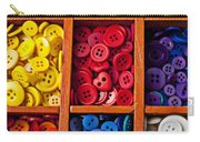Compartments Full Of Buttons Carry-all Pouch by Garry Gay