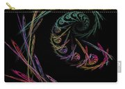 Computer Generated Abstract Fractal Flame Black Modern Art Carry-all Pouch