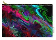Computer Generated Blue Green Abstract Wave Fractal Flame Modern Art Carry-all Pouch