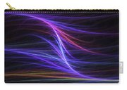 Computer Generated Blue Magenta Abstract Fractal Flame Modern Art Carry-all Pouch