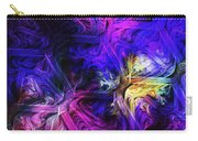 Computer Generated Blue Pink Abstract Fractal Flame Carry-all Pouch