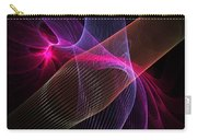 Computer Generated Blue Pink Abstract Fractal Flame Modern Art Carry-all Pouch