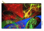 Computer Generated Blue Red Green Abstract Fractal Flame Modern Art Carry-all Pouch