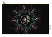 Computer Generated Flower Abstract Fractal Flame Modern Art Carry-all Pouch