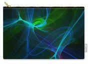 Computer Generated Green Blue Abstract Fractal Flame Modern Art Carry-all Pouch