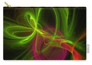 Computer Generated Green Magenta Abstract Fractal Modern Art Carry-all Pouch