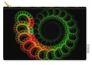 Computer Generated Green Red Abstract Fractal Flame Modern Art Carry-all Pouch