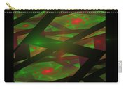 Computer Generated Green Triangles Abstract Fractal Flame Abstract Art Carry-all Pouch