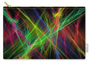 Computer Generated Lines Abstract Fractal Flame Black Background Carry-all Pouch