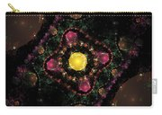 Computer Generated Pink Green Abstract Fractal Flame Black Background Carry-all Pouch