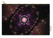 Computer Generated Pink Magenta Abstract Fractal Flame Black Background Carry-all Pouch