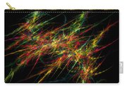 Computer Generated Red Green Abstract Fractal Flame Black Background Carry-all Pouch