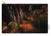 Computer Generated Red Green Abstract Fractal Flame Modern Art Carry-all Pouch