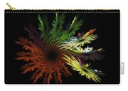 Computer Generated Red Yellow Green Abstract Fractal Flame Black Carry-all Pouch