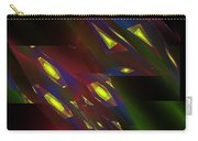 Computer Generated Triangles Abstract Fractal Flame Abstract Art Carry-all Pouch
