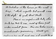 Conan Doyle: Letter Carry-all Pouch