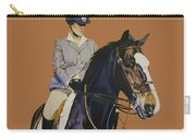 Concentration - Hunter Jumper Horse And Rider Carry-all Pouch