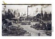Concord New Hampshire - Logging Camp - C 1925 Carry-all Pouch by International  Images