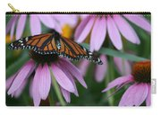 Cone Flowers And Monarch Butterfly Carry-all Pouch