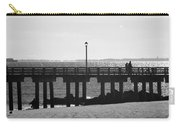 Coney Island Coast In Black And White Carry-all Pouch