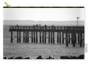 Coney Island Pier In Black And White Carry-all Pouch
