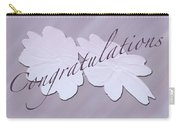 Congratulations Greeting Card - New Guinea Impatiens Carry-all Pouch