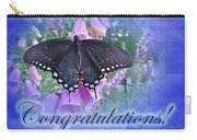Congratulations Greeting Card - Spicebush Swallowtail Butterfly Carry-all Pouch