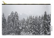 Coniferous Forest In Winter, Alps Carry-all Pouch by Konrad Wothe