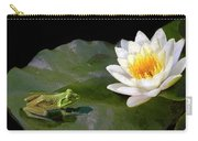 Contemplating A Lily Carry-all Pouch