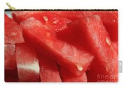 Cool Watermelon Wedges Carry-all Pouch by Barbara Griffin