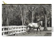 Coosaw - Outside The Fence Black And Wite Carry-all Pouch