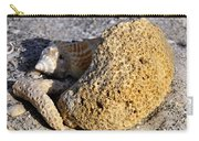 Coral On Shore Carry-all Pouch