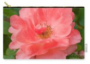 Coral Rose Portrait Carry-all Pouch