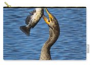 Cormorant Catches Catfish Carry-all Pouch
