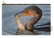 Cormorant With Large Fish Carry-all Pouch