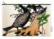 Cormorants On Mangrove Stumps Filtered Carry-all Pouch