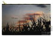 Corn Field With Orange Clouds Carry-all Pouch